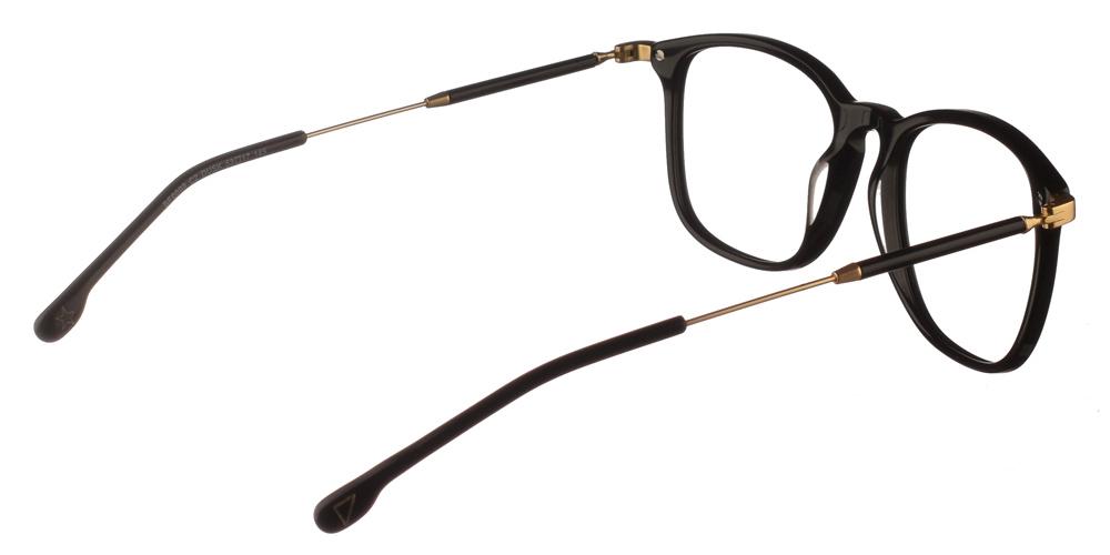 Γυναικεία κοκάλινα τετράγωνα γυαλιά οράσεως Brixton Dusk BF0099 C2 με μαύρο και χρυσό μεταλλικό σκελετόγια όλα τα πρόσωπα.