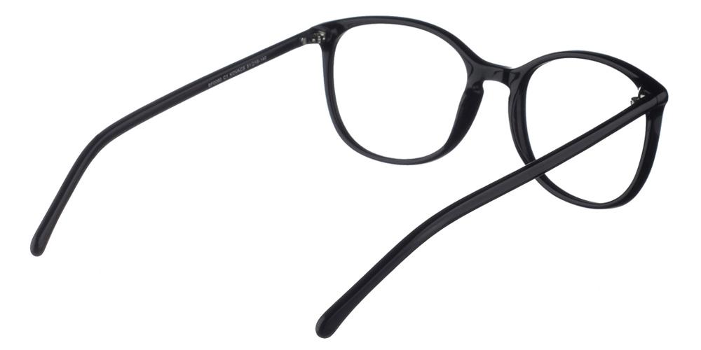 Γυναικεία κοκάλινα γυαλιά οράσεως Brixton Kovacs BF0060 C1 με μαύρο σκελετόγια μεσαία και μεγάλα πρόσωπα.