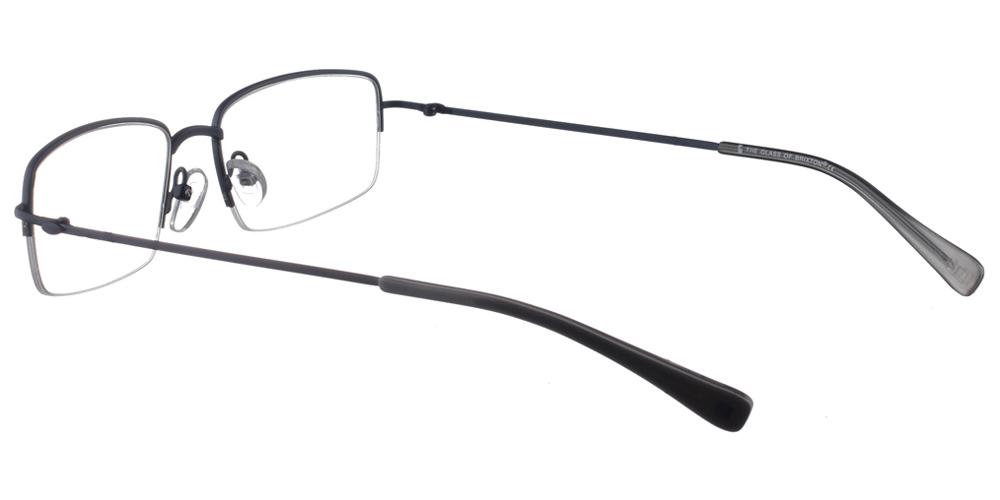 Τετράγωνα ελαφριά μεταλλικά ανδρικά και γυναικεία γυαλιά οράσεως Brixton Nixon BF0053 C1 nylor σε σκούρο μπλε χρώμαγια όλα τα πρόσωπα.