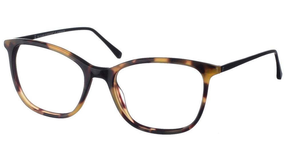 Γυναικεία κοκάλινα γυαλιά οράσεως Brixton Regents BF0104 C4 με καφέ ταρταρούγα σκελετό και μεταλλικούς βραχίονες για όλα τα πρόσωπα.