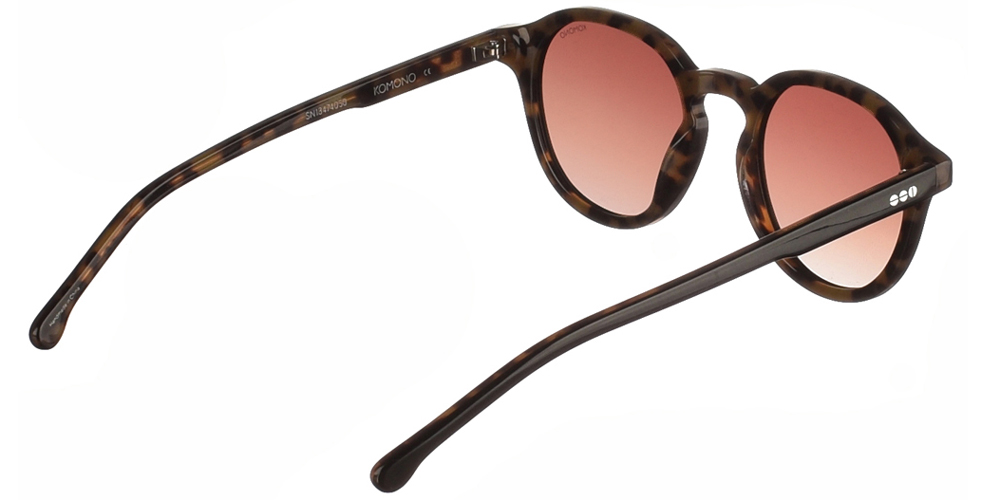 Κοκάλινα unisex γυαλιά ηλίου Damien σε μαύρη και καφέ ταρταρούγα και καφέ polarized ντεγκραντέ φακούς της εταιρίαςKomonoγια όλα τα πρόσωπα.