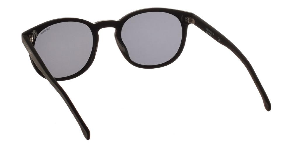 Ανδρικά κοκάλινα γυαλιά ηλίου Andrea Black σε μαύρο χρώμα και σκούρους γκρι φακούς της εταιρίας Glass of Brixtonγια μεσαία και μεγάλα πρόσωπα.