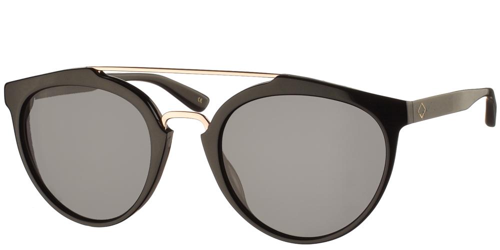 Χειροποίητα κοκάλινα ανδρικά και γυναικεία γυαλιά ηλίου Charlie Max Moscova 01N13 σε μαύρο χρώμα και σκούρους γκρι φακούςγια όλα τα πρόσωπα.