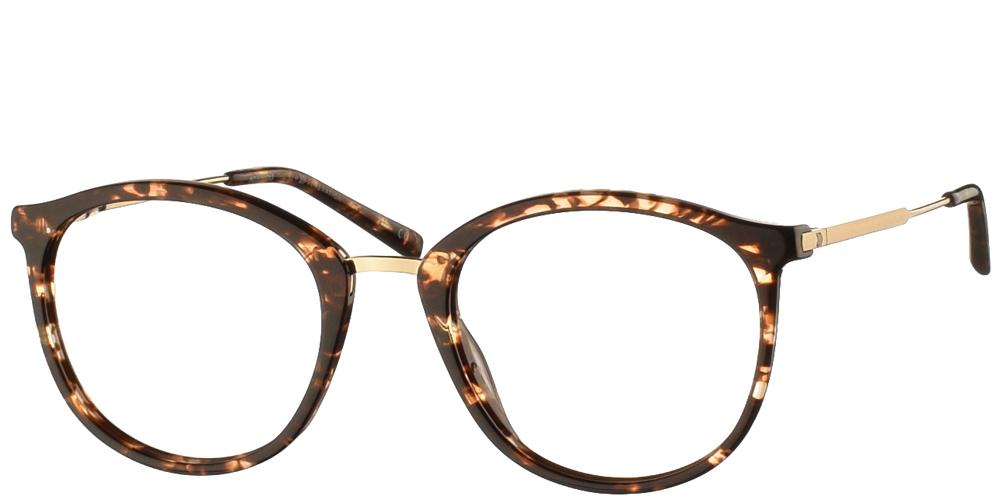 Κοκάλινα στρογγυλά ανδρικά και γυναικεία γυαλιά οράσεως No Idols Thurman ONETHUR02 σε καφέ ταρταρούγα και χρυσές λεπτομέρειεςγια όλα τα πρόσωπα.