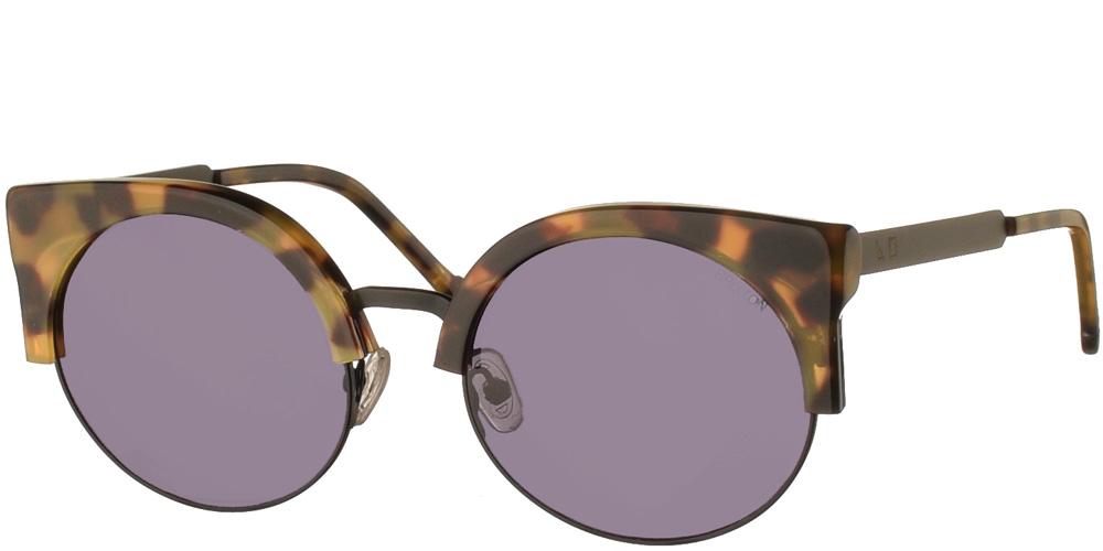 Γυναικεία γυαλιά ηλίου σε σχήμα πεταλούδα Kingston Tortoise σε καφέ ταρταρούγα και σκουρόχρωμους γκρι φακούς της εταιρίας Glass of Brixtonγια μικρά και μεσαία πρόσωπα.