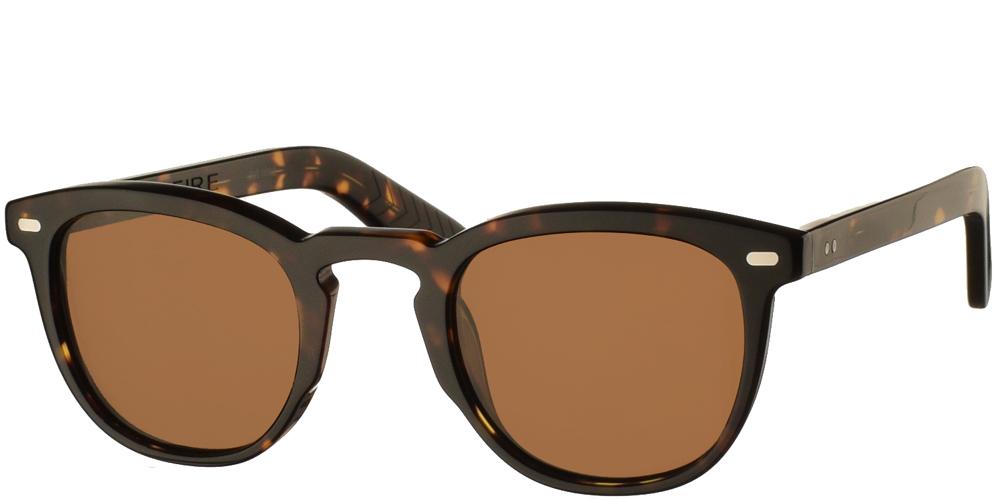 Ανδρικά και γυναικεία κοκάλινα γυαλιά ηλίου Spitfire Cut Nine Tortoise σε καφέ ταρταρούγα και καφέ φακούςγια μικρά και μεσαία πρόσωπα.