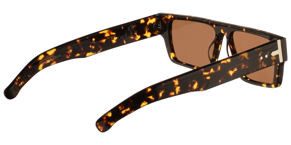 Unisex κοκάλινα γυαλιά ηλίου Cut Six σε σκουρόχρωμη καφέ ταρταρούγα και επίπεδους καφέ φακούς της εταιρίας Spitfireγια μεσαία και μεγάλα πρόσωπα.