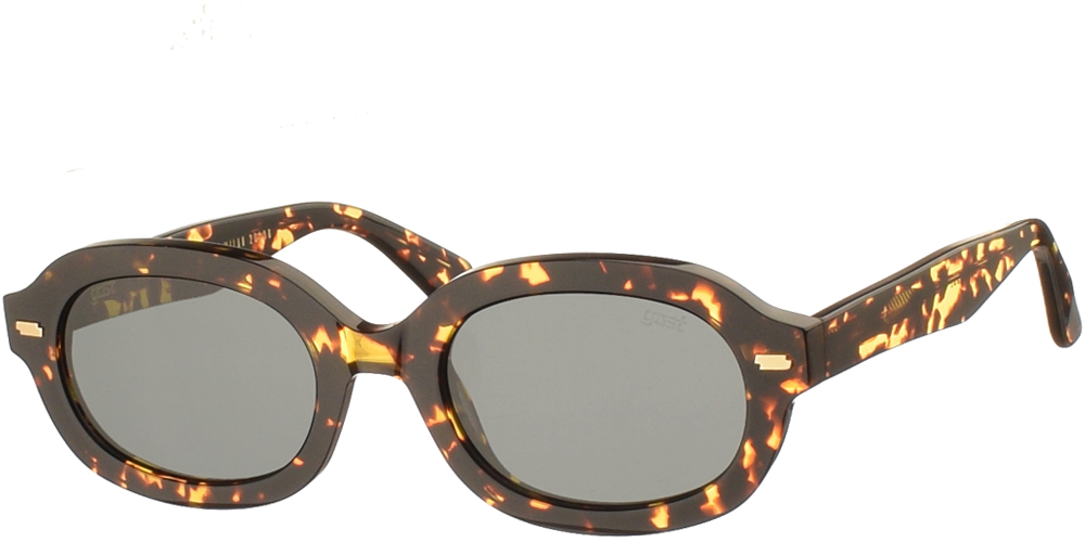 Χειροποίητα κοκάλινα unisex γυαλιά ηλίου Nsfk σε καφέ ταρταρούγα και επίπεδους σκούρους γκρι φακούς με εσωτερικές antireflex επιστρώσεις της εταιρίας Gastγια όλα τα πρόσωπα.