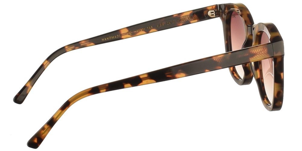 Χειροποίητα κοκάλινα unisex γυαλιά ηλίου Venti σε καφέ ανοιχτόχρωμη ταρταρούγα και επίπεδους καφέ ντεγκραντέ φακούς με εσωτερικές antireflex επιστρώσεις της εταιρίας Gastγια μεσαία και μεγάλα πρόσωπα.
