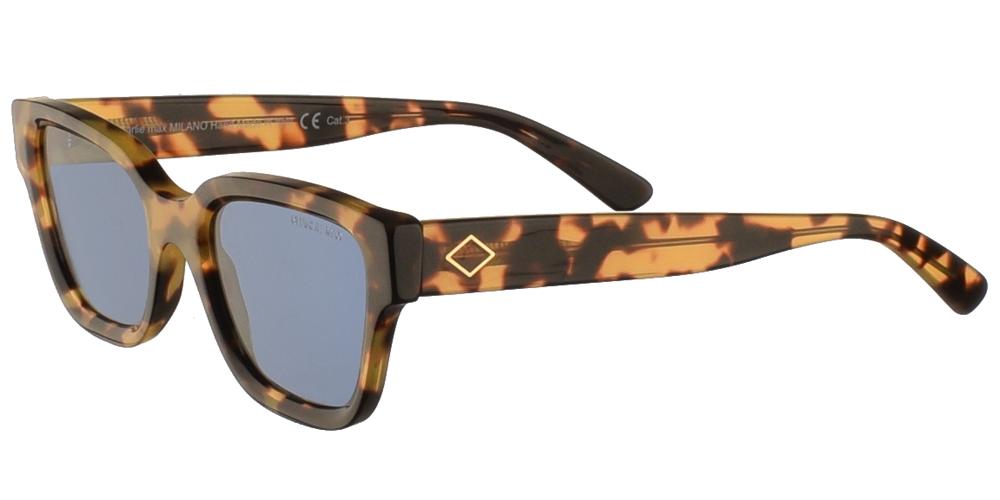 Χειροποίητα κοκάλινα unisex γυαλιά ηλίου Spartaco σε ανοιχτόχρωμη ταρταρούγα και μπλε φακούς της εταιρίας Charlie Maxγια όλα τα πρόσωπα.