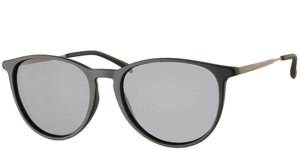 Διαχρονικά κοκάλινα ανδρικά γυαλιά ηλίου B2945 B σε ματ σκούρο μπλε με γκρι polarized φακούς της εταιρίας Invuγια όλα τα πρόσωπα.