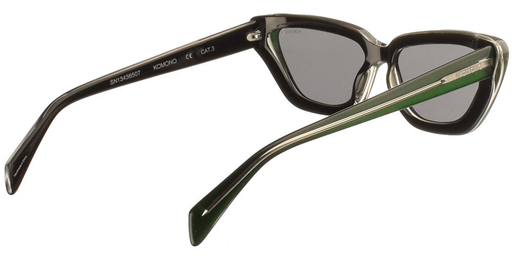 Γυναικεία κοκάλινα γυαλιά ηλίου πεταλούδα Tony σε πράσινο σκελετό και σκούρους γκρι φακούς της εταιρίας Komono για μεσαία και μεγάλα πρόσωπα.