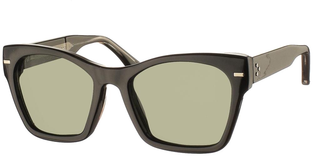 Κοκάλινα γυναικεία πεταλούδα γυαλιά ηλίου Coco σε μαύρο σκελετό και επίπεδους σκούρους πράσινους φακούς της εταιρίας Spitfire για όλα τα πρόσωπα.