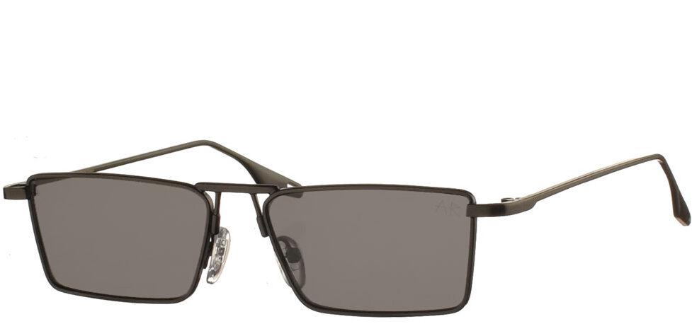 Τετράγωνα ανδρικά και γυναικεία μεταλλικά γυαλιά ηλίου Jester σε μαύρο χρώμα και σκούρους γκρι φακούς της εταιρίας Armed Robbery κατάλληλο για μικρά και μεσαία πρόσωπα.