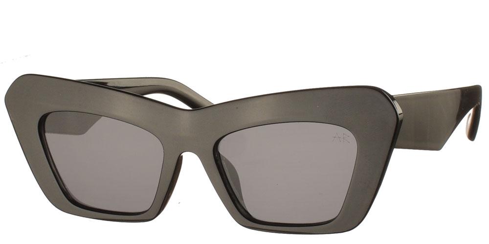 Κοκάλινα oversized γυναικεία γυαλιά ηλίου πεταλούδα Lucia μαύρα με σκούρους γκρι φακούς της εταιρίας Armed Robbery κατάλληλα για μεσαία και μεγάλα πρόσωπα.