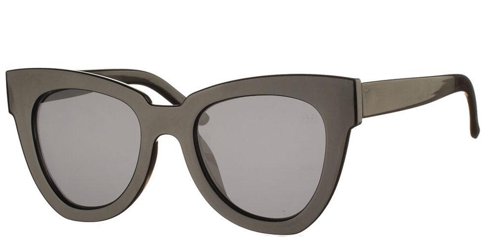 Κοκάλινα oversized γυναικεία γυαλιά ηλίου πεταλούδα Sandra μαύρα και σκούρους γκρι φακούς της εταιρίας Armed Robbery κατάλληλα για μεσαία και μεγάλα πρόσωπα.