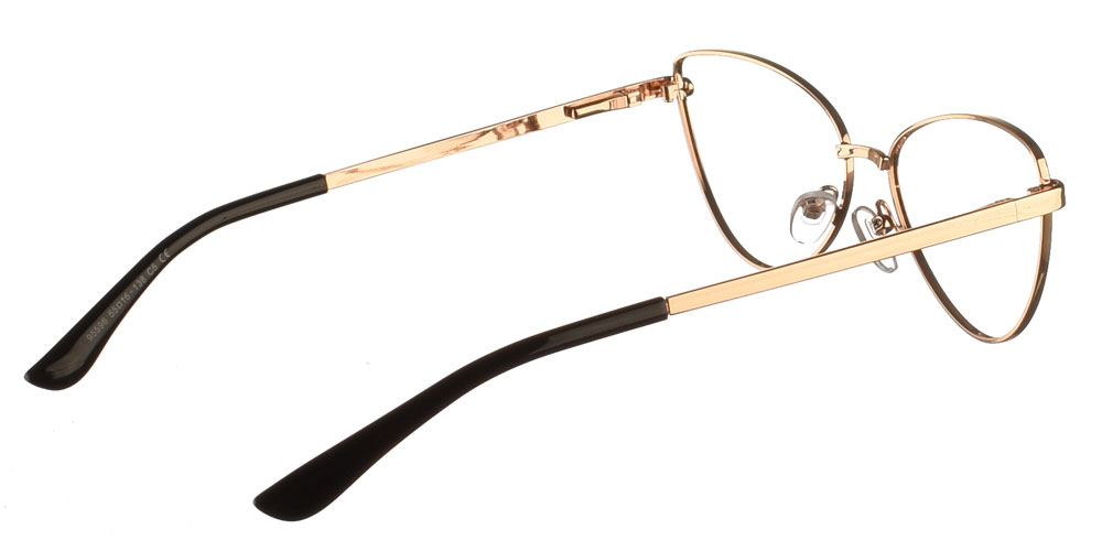 Μεταλλικά γυναικεία πεταλούδα cat eye γυαλιά οράσεως 84's σε μαύρο χρώμα με ασημί λεπτομέρειες της εταιρίας Armed Robbery κατάλληλο για όλα τα πρόσωπα.