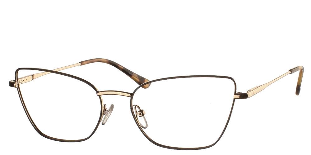 Γυναικεία μεταλλικά γυαλιά οράσεως πεταλούδα BF 145 08 σε καφέ ταρταρούγα σκελετό της εταιρίας Glass of Brixton κατάλληλο μεσαία και μεγάλα πρόσωπα.