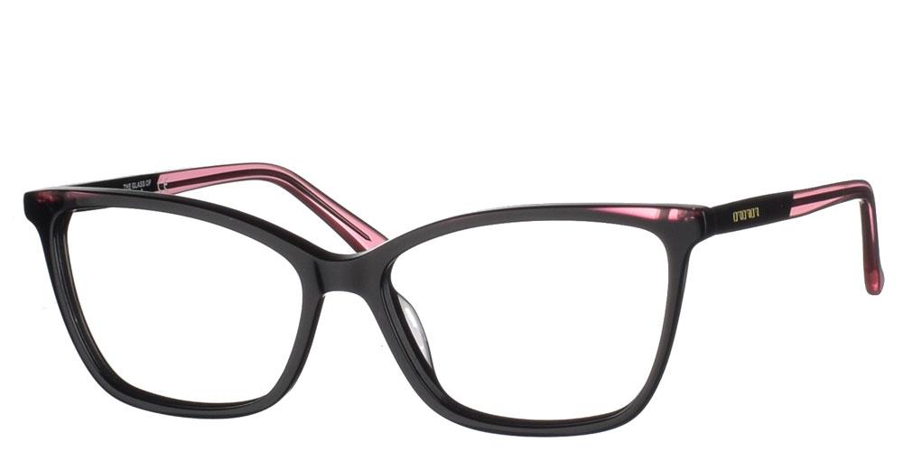 Γυναικεία μεταλλικά γυαλιά οράσεως πεταλούδα BF 154 02 σε μαύρο και ροζ σκελετό της εταιρίας Glass of Brixton κατάλληλο μικρά και μεσαία πρόσωπα.