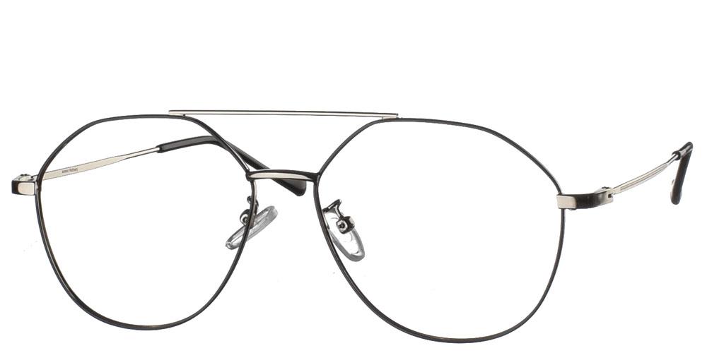 Μεταλλικά ανδρικά και γυναικεία πιλοτικά aviator γυαλιά οράσεως 89's σε μαύρο χρώμα με χρυσές λεπτομέρειες της εταιρίας Armed Robbery κατάλληλο για όλα τα πρόσωπα.