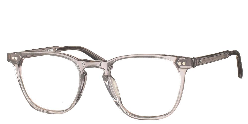 Τετράγωνα χειροποίητα κοκάλινα ανδρικά και γυναικεία γυαλιά οράσεως NY30085 3 διάφανα γκρι της εταιρίας Charles Stone κατάλληλα για μεσαία και μικρά πρόσωπα.