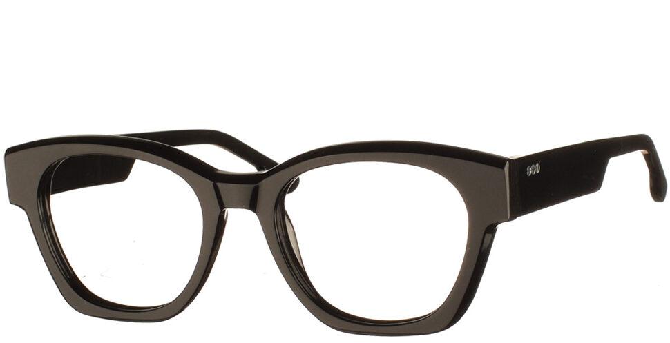 Τετράγωνα κοκάλινα γυναικεία γυαλιά οράσεως Omar μαύρα της εταιρίας Komono κατάλληλα για όλα τα πρόσωπα.