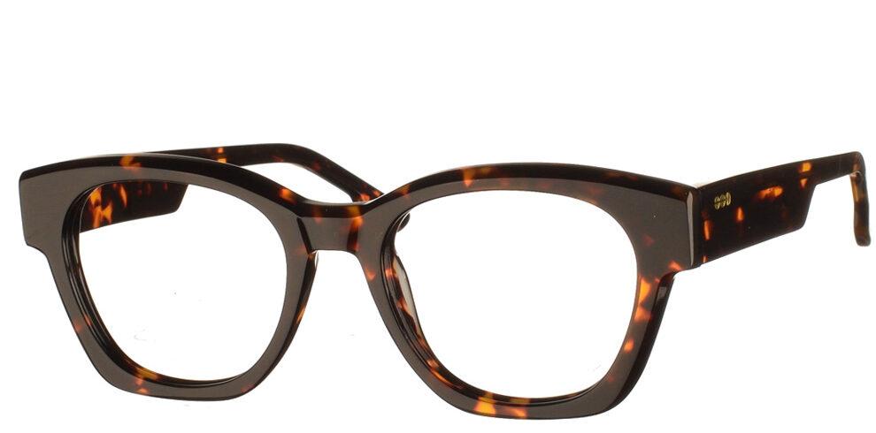 Τετράγωνα κοκάλινα γυναικεία γυαλιά οράσεως Omar καφέ ταρταρούγα της εταιρίας Komono κατάλληλα για όλα τα πρόσωπα.